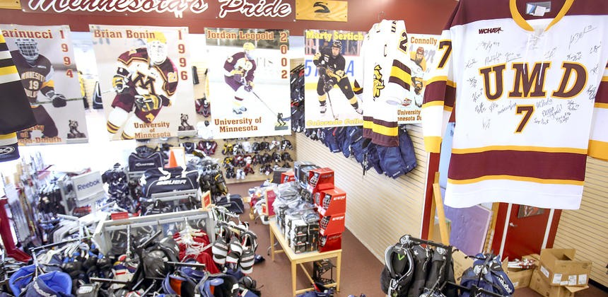 Stauber sports store goes all-hockey