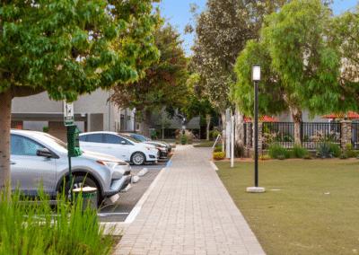 parking area at Solara Apartments