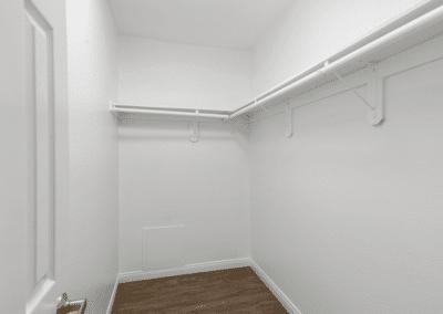 empty walk-in closet