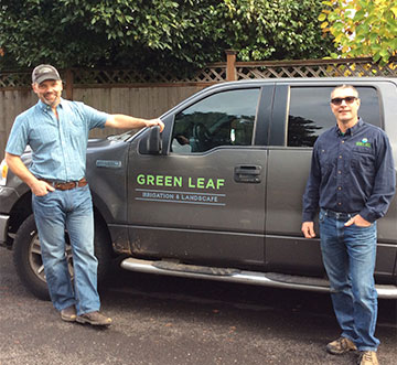 Curt and Steve of Green Leaf Irrigation & Landscape