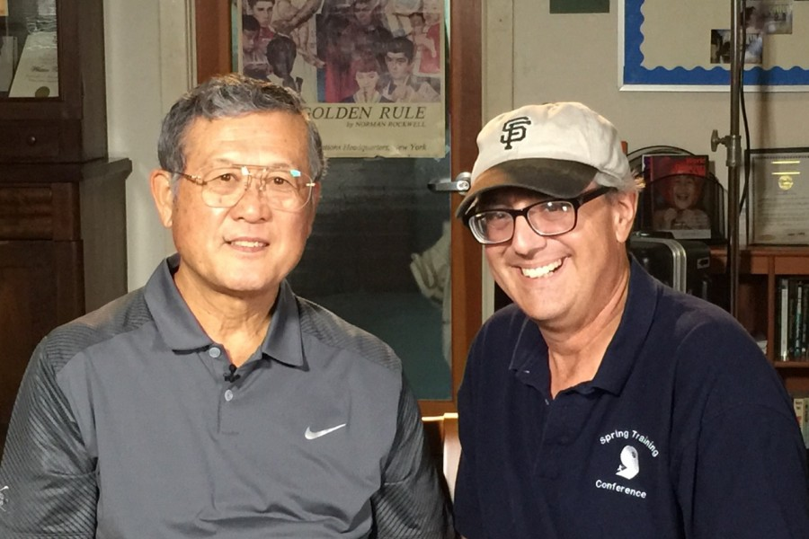 Jon with baseball pioneer Masanori Murakami, the first Japanese national to play in the major leagues.