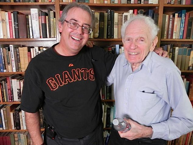 Jon with author Arnold Hano.