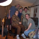 Jon with director Denny Tedesco, bassist Carol Kaye and crew for The Wrecking Crew.