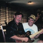 Hall of Fame guitarist James Burton with Jon post interview.