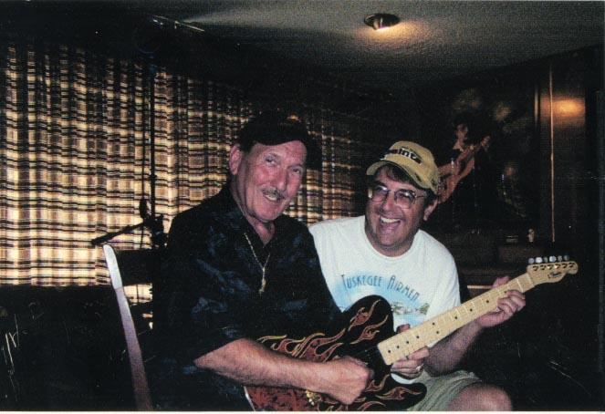 Hall of Fame guitarist James Burton with Jon post interview.