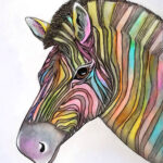 """Watercolor Zebra"""