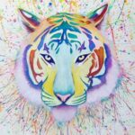 """Colorful Watercolor Tiger"""