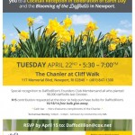 You're invited – Daffodil Project – cocktail reception at the Chanler Hotel on Earth Day, April 22nd