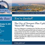 City of Newport – Comprehensive Land Use Plan Update Kick-Off Meeting, October 13th