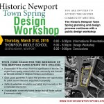 Historic Newport Spring – Second Community Meeting – Design Workshop Thursday March 31, 6pm
