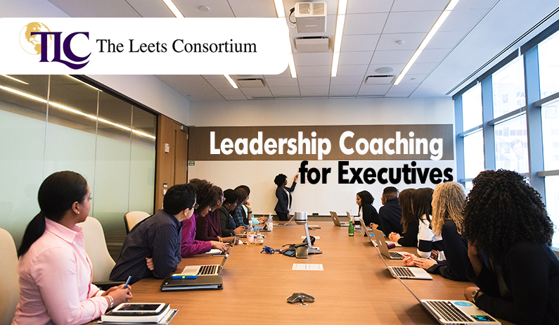 boardroom full of executives in the middle of an leadership coaching session