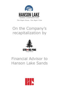 Transaction experience - Hanson Lakes