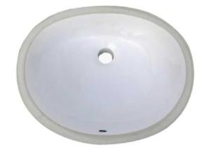 standard oval bathroom undermount sink