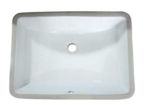 standard rectangle bathroom undermount sink