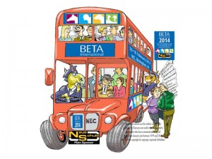 courtesy bus image for major NEC exhibition