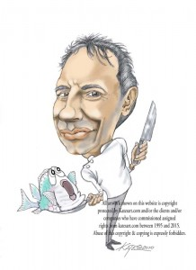 chef caricature Raymond Blanc