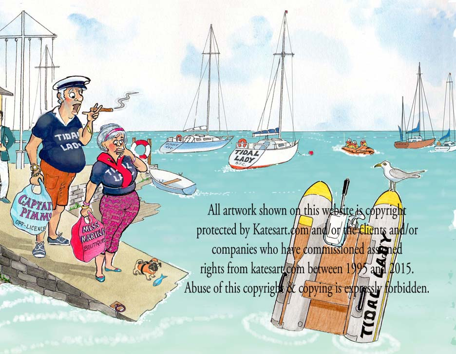 marine cartoon RNLI exhibition incompetent crew
