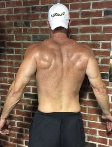Client Ryan Dick after picture shredded back muscles