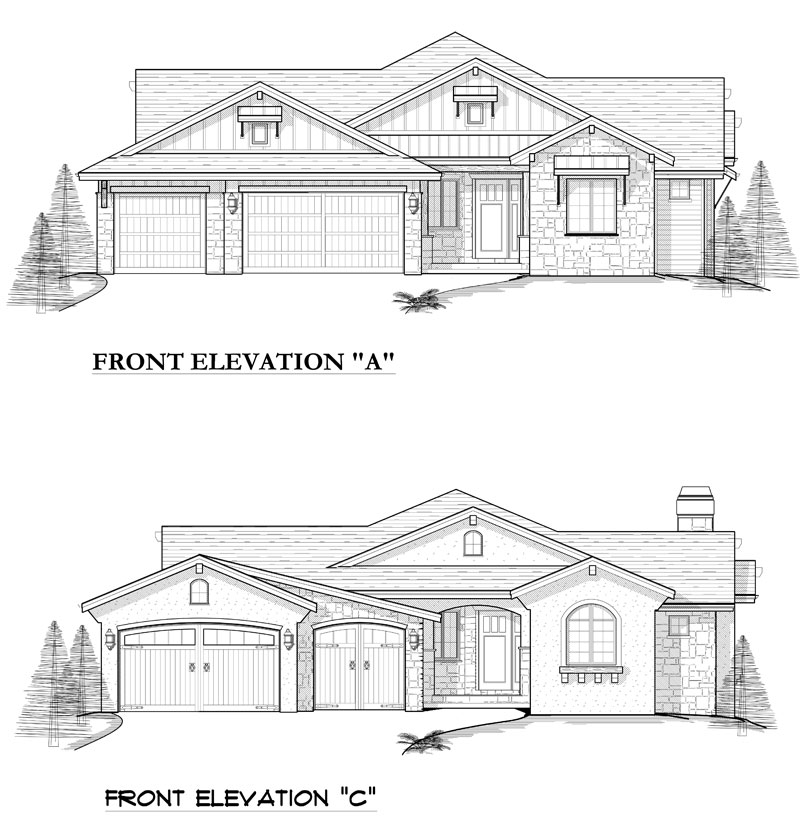 avon plan by sopris homes alternate elevation options