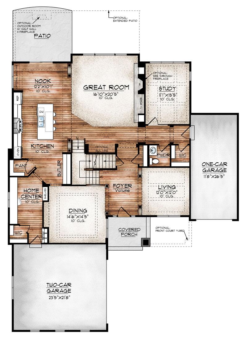 carbondale model floor plan by Sopris homes