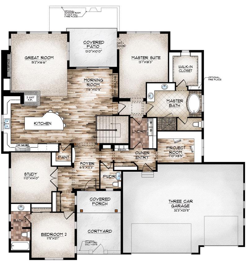 eagle model floor plan by sopris homes