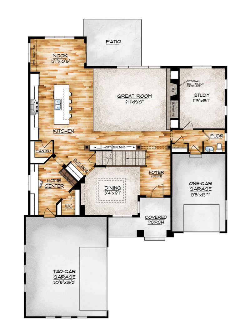 eldorado model floor plan by sopris homes