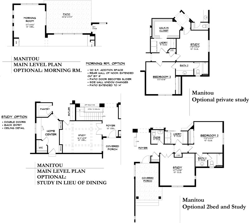 manitou model floor plan options