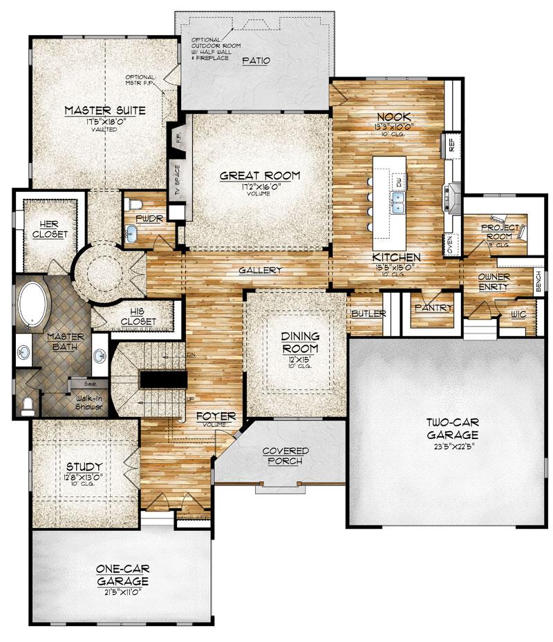 paonia model floor plan by sopris homes