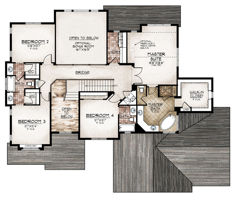 sterling model floor plan upper level