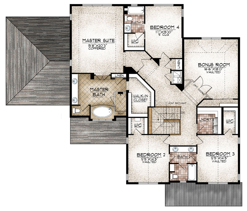 westcliffe model upper level floor plan