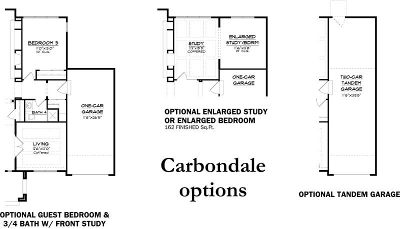 carbondale floor plan options