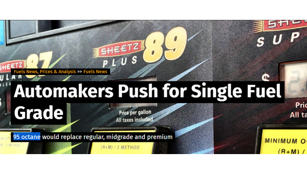 Automakers Push for Single Fuel Grade