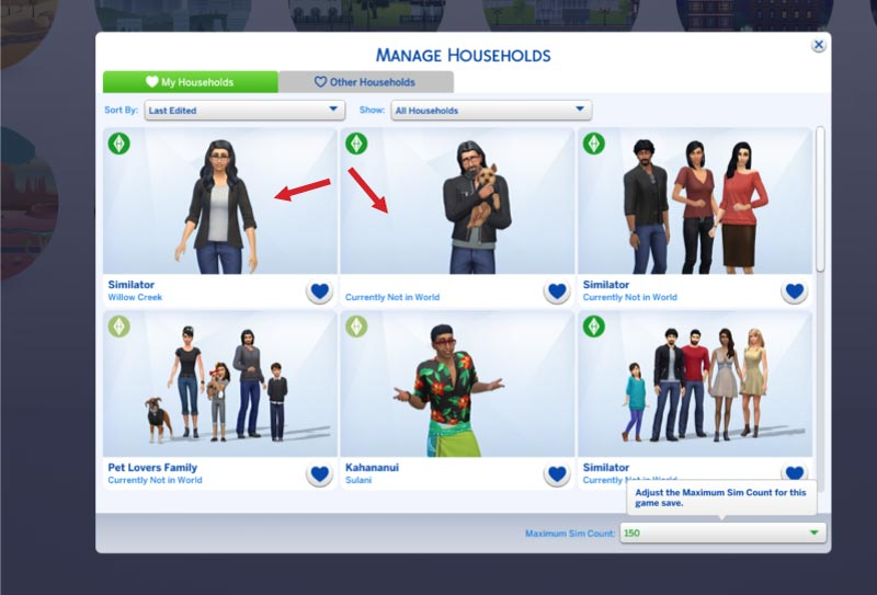 Split & Merge Household in Sims 4