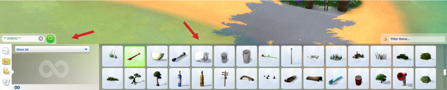 Sims 4-Debug Objects