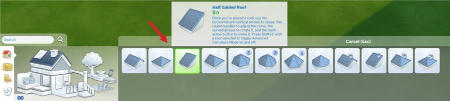 Half Gabled Roof