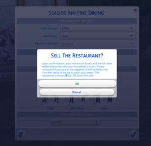 Sims- 4 - Sell a Restaurant