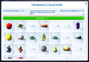 """""""Household Collections"""" > """"Gardening"""" selected"""