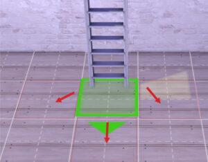 enter/exit ladder-bottom middle of room