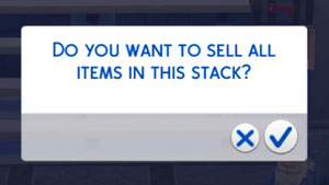 confirm sell stack