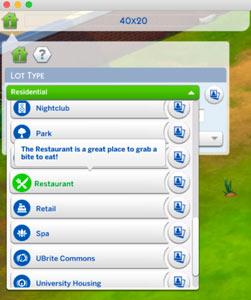 assign restaurant lot type