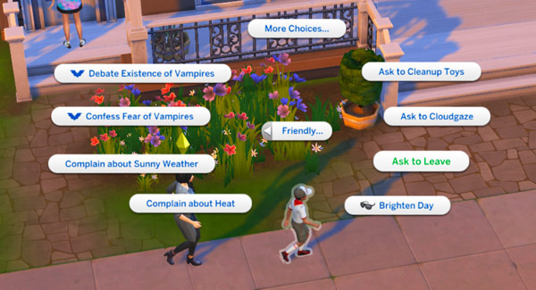 Sims 4-privacy issues-ask to leave