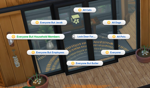 Sims 4-privacy-issues-lock door options