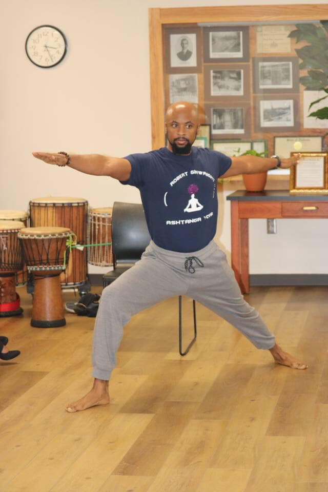 Birmingham Alabama yoga instructor performing yoga pose