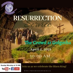 Resurrection Service: The Crowd At Golgotha @ Facebook & YouTube