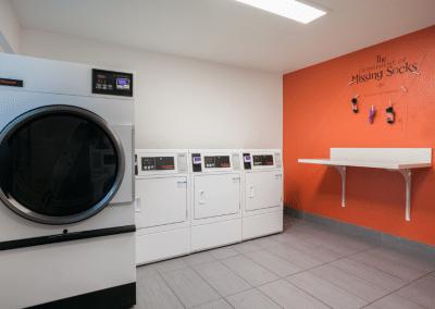 washing machine and dryer area
