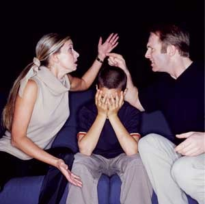couple fighting over son
