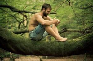 guy in tree