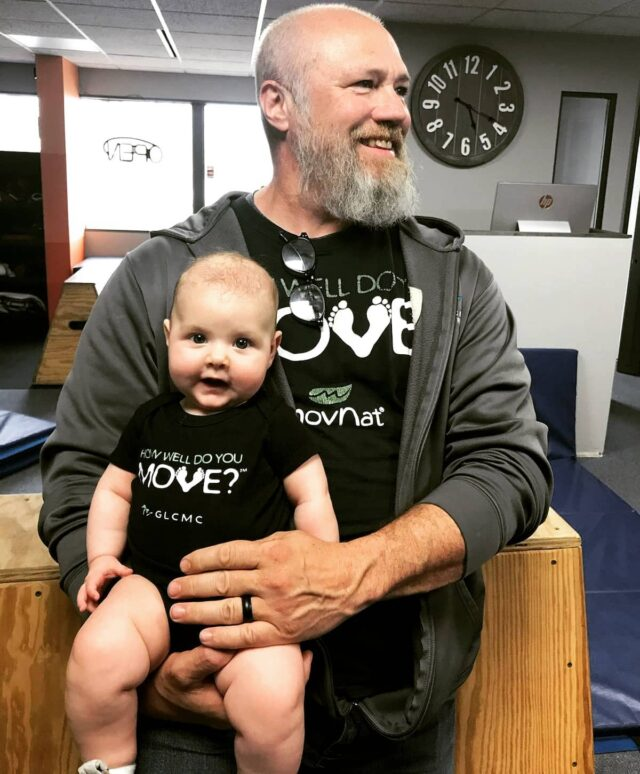 Great big THANK YOU to Mrs. Mallory P. for filling in for a couple weeks! Plus... BONUS... #DrMorey got to visit with their adorable little bundle of joy 🥰 #Howwelldoyoumove? #babymover #cutenessoverload #GLCMC #movementspecialist #movementcenter