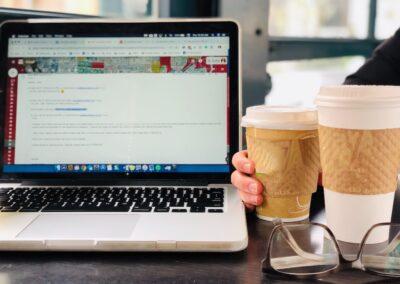 Coffee & Computer at Caffe Bella in Santa Monica