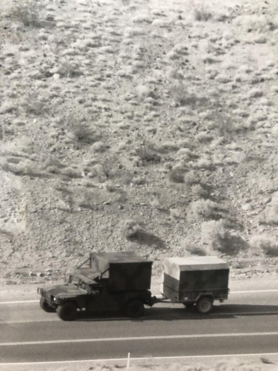 Image of Army Vehicle at Army Base